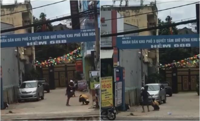 Phẫn nộ clip nam thanh niên đánh, đạp bạn gái tới tấp trên đường phố Sài Gòn-1