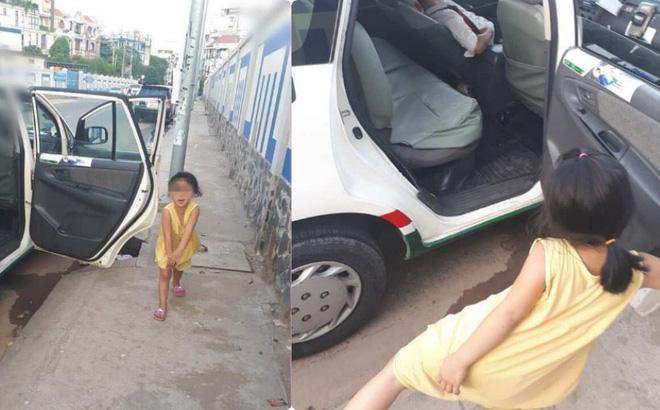 Cô bé nô đùa bên đường và câu nói vọng ra từ taxi của tài xế khiến người đi đường sững lại-1
