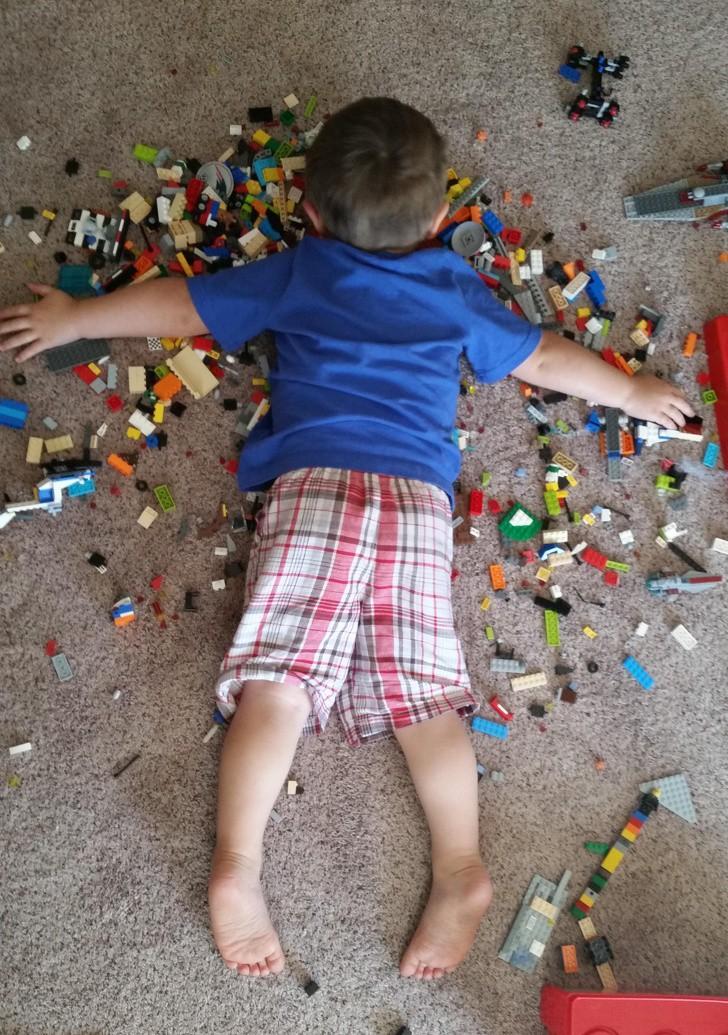18 bức ảnh chứng minh khả năng nghịch ngợm của trẻ là không giới hạn, ai nuôi con nhỏ nhìn là hiểu-17