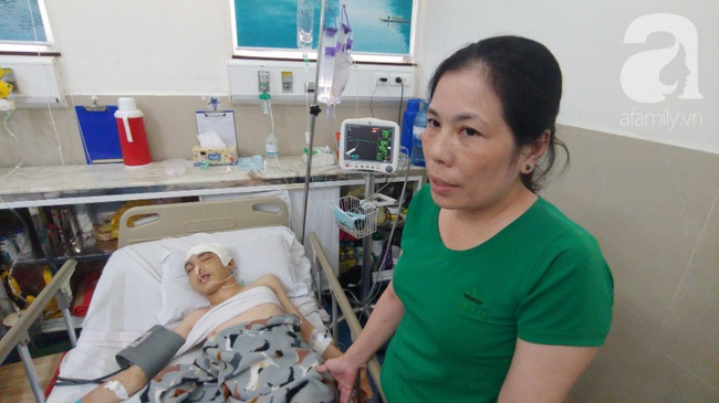 Con trai bị tai nạn dập não, bố chỉ nói câu đang bận rồi cúp máy, người mẹ nghèo bật khóc giữa bệnh viện-1