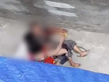 Kinh hoàng clip cụ bà ở Hà Nội bị chó cắn máu me đầm đìa, người phụ nữ cố giải cứu trong bất lực
