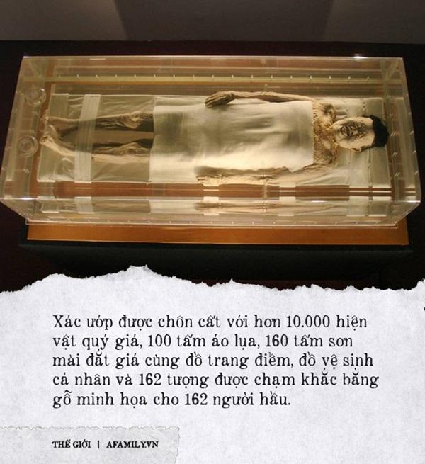Câu chuyện bí ẩn về xác ướp vị phu nhân Trung Hoa kỳ lạ nhất thế giới: 2.000 năm tuổi da vẫn mềm, tóc vẫn xanh, có máu chảy trong tĩnh mạch-1