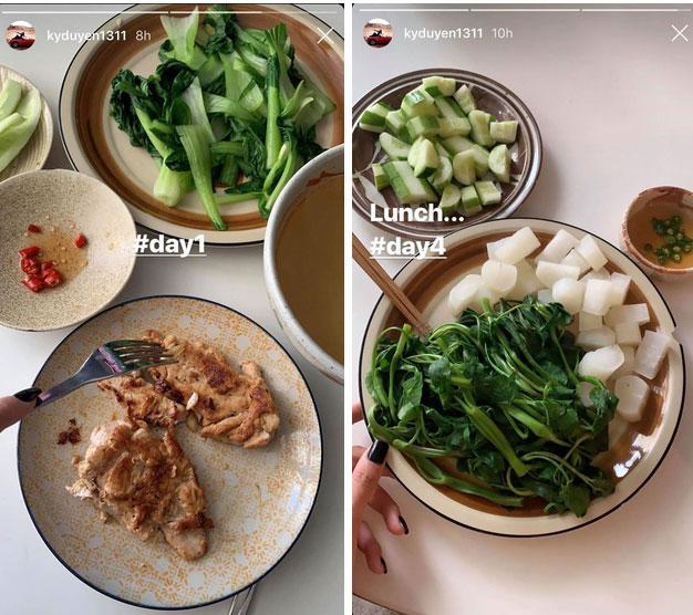 Chuyện giảm cân 70% ăn - 30% tập của sao Việt: Nhã Phương ăn toàn rau xanh, Ngọc Trinh uống nước ép tiêu mỡ-3