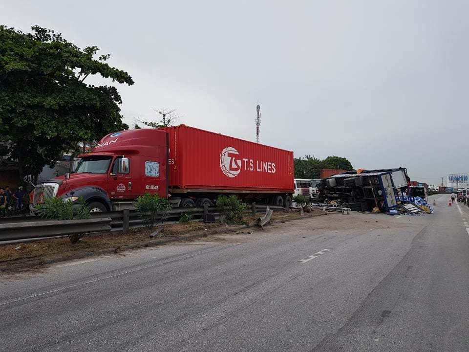 Hiện trường vụ tai nạn 5 người bị xe tải đè chết ở Hải Dương-1