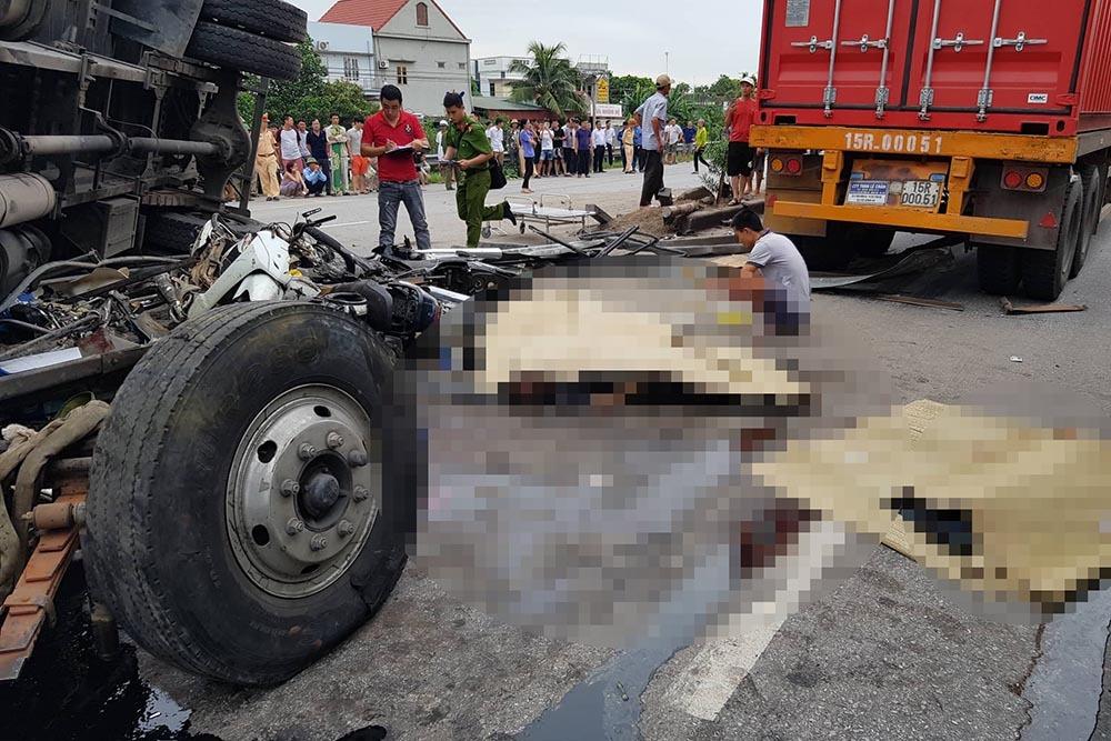Hiện trường vụ tai nạn 5 người bị xe tải đè chết ở Hải Dương-3