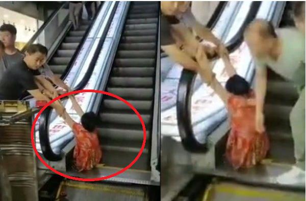 """Đi mua sắm, người phụ nữ bị thang cuốn nuốt"""" trọn 2 chân, nhân chứng kể lại chi tiết sự việc khiến ai cũng rùng mình kinh hãi-1"""