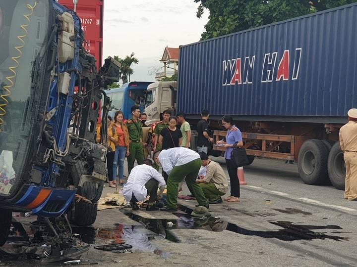 Hiện trường vụ tai nạn 5 người bị xe tải đè chết ở Hải Dương-15