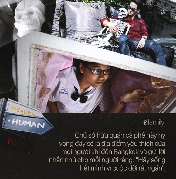 Bên trong quán cà phê chết chóc ở Thái Lan: Khách tha hồ nằm trong quan tài cảm nhận cái chết, đi dạo quanh địa ngục, chụp ảnh với hài cốt-3