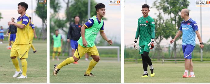 HLV Park Hang Seo đè đầu cưỡi cổ học trò trong buổi tập trước trận giao hữu với Viettel-8