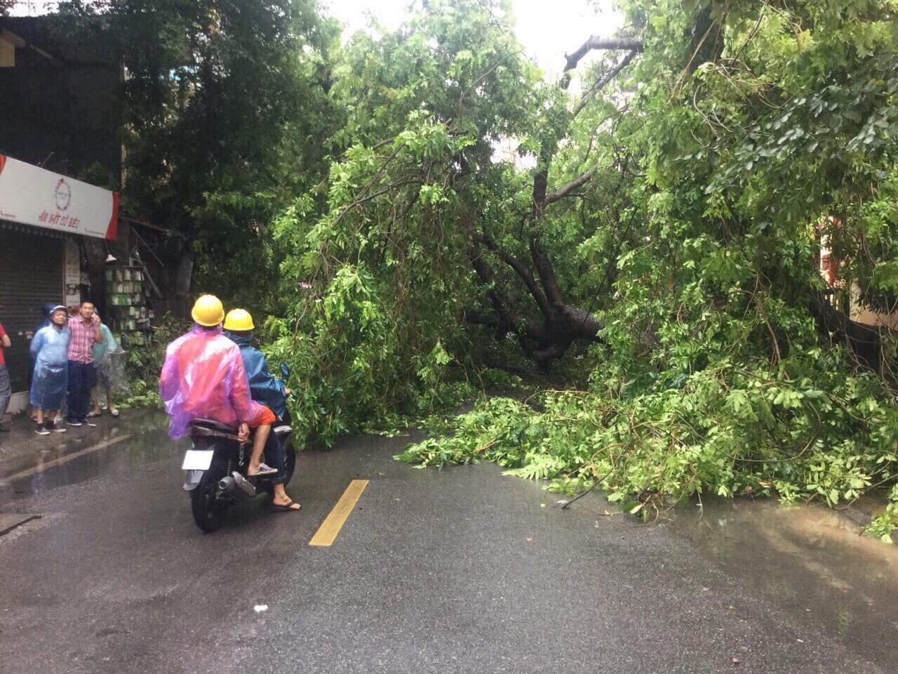 Nhiều tuyến phố Hà Nội ngập lụt, hàng loạt xe chết máy sau trận mưa lớn trưa nay-11