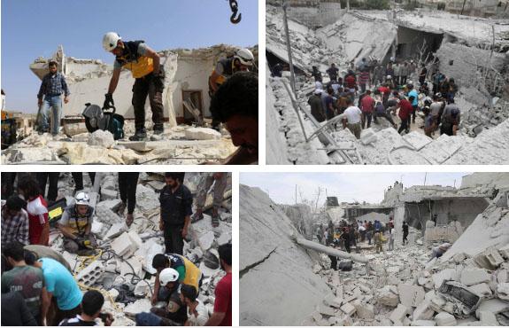 Bức ảnh gây chấn động thế giới: Bé gái 5 tuổi Syria mất mạng khi cố cứu em trong ngôi nhà sập vì trúng tên lửa-4