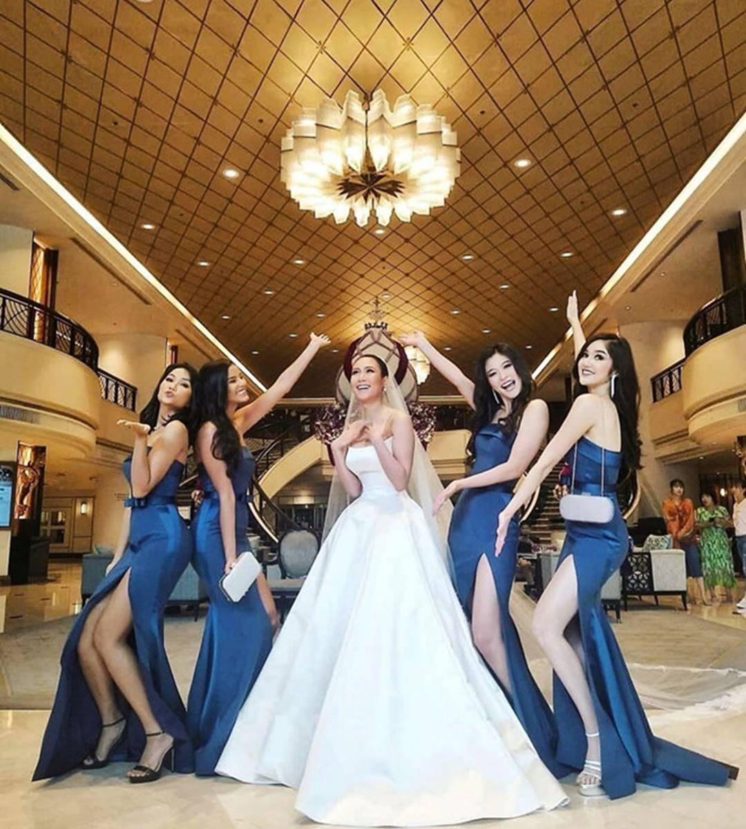HHen Niê và dàn hoa hậu làm phù dâu trong lễ cưới mỹ nhân Thái Lan-2