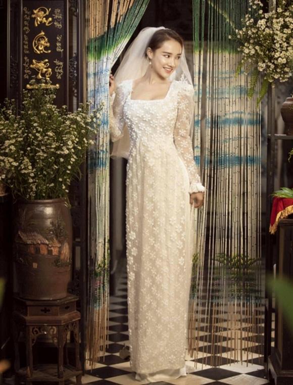Nhã Phương đốn tim người hâm mộ khi khoác lên mình chiếc áo cô dâu-5