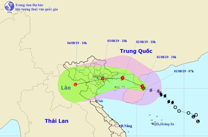 Khi nào bão số 3 đổ bộ đất liền và những tỉnh nào nằm trong tâm bão?-1