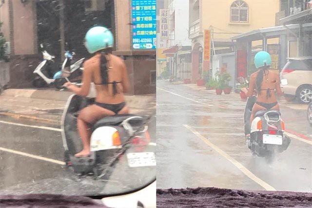 Mặc bikini rồi thản nhiên lái xe máy xuống phố, 2 cô gái trẻ khiến người dân lắc đầu ngán ngẩm-2