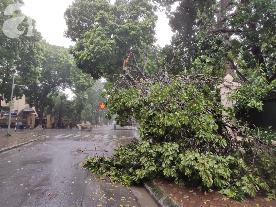 Ảnh: Người dân Hà Nội oằn mình trong mưa lớn và gió lốc mạnh, bão số 3 đã suy yếu thành áp thấp nhiệt đới-10