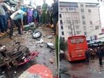 Video: Hiện trường xe khách lao vào chợ, tông hàng loạt người đang mua bán, ít nhất 3 người chết-8