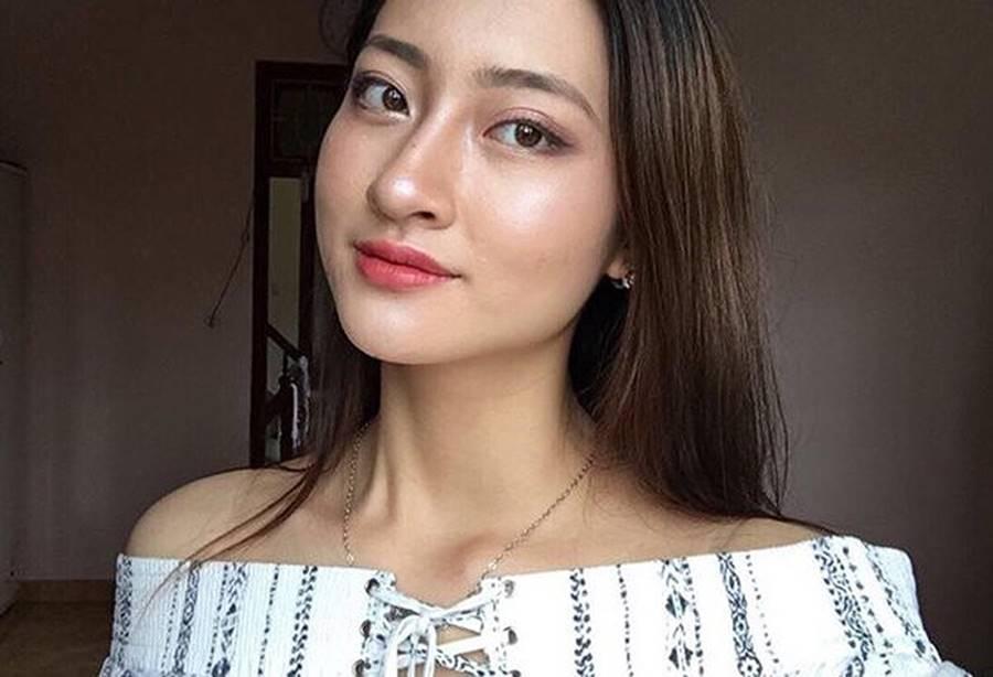 Mặt mộc xinh đẹp của Hoa hậu thế giới Vietnam Lương Thuỳ Linh-2