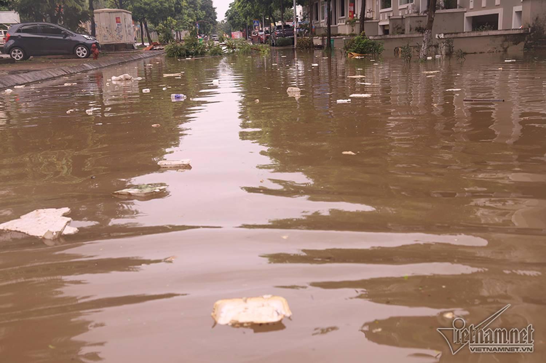 Biển nước bao vây khu biệt thự triệu đô ở Hà Nội-6
