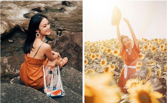 Ngoài màu vàng, gam màu cam đất cũng cực đẹp và thích nhất là lên đồ sống ảo không chê vào đâu được-6