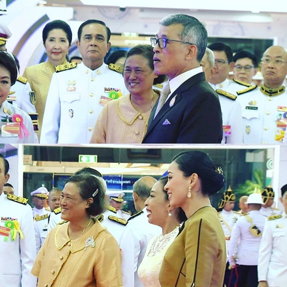 Trước khi lập Hoàng quý phi, Hoàng hậu Thái Lan vẫn ân cần chăm sóc chồng một cách tinh tế, khẳng định vị trí vợ cả của mình-3