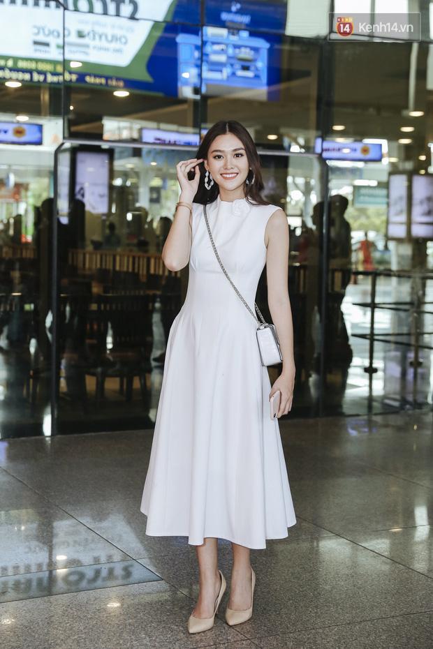 Tân Hoa hậu Lương Thùy Linh mặc giản dị, rạng rỡ cùng 2 Á hậu xuất hiện tại TP.HCM trong vòng tay người hâm mộ-5