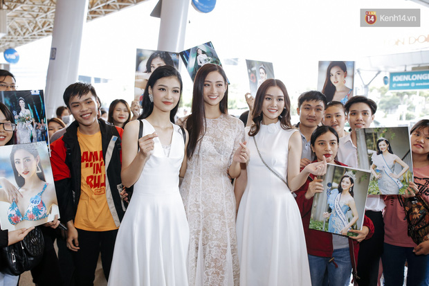 Tân Hoa hậu Lương Thùy Linh mặc giản dị, rạng rỡ cùng 2 Á hậu xuất hiện tại TP.HCM trong vòng tay người hâm mộ-17