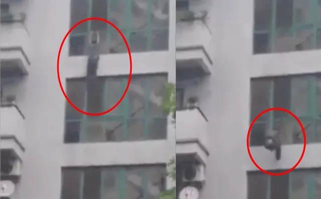 Rùng mình cảnh nam thanh niên rơi từ tầng 6 toà chung cư xuống đất tử vong-1