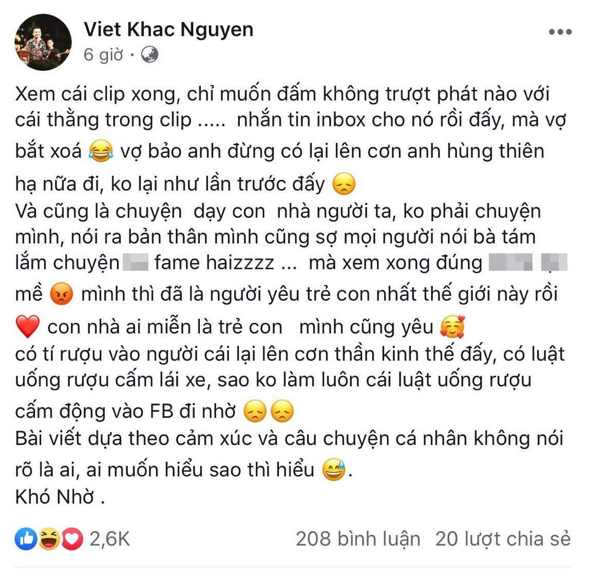 Loạt sao Việt thể hiện sự phẫn nộ trước hành động được cho là ngược đãi trẻ mà chồng kém 10 tuổi của Thu Thuỷ gây ra cho bé Henry-2