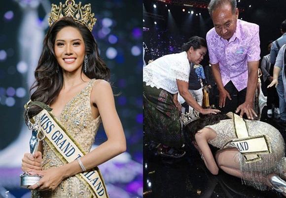Khi Hoa hậu đội vương miện quỳ lạy cha mẹ: Lòng hiếu thảo của một người con và nét đẹp văn hóa tại đất nước Thái Lan-2