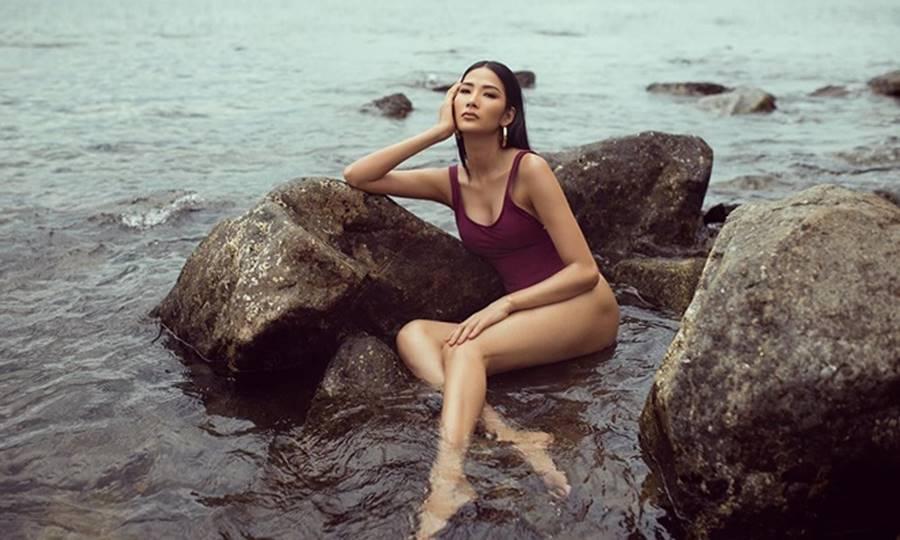 Hoàng Thuỳ mặc bikini khoe đường cong bỏng mắt sau nghi án nâng cấp vòng 1-3