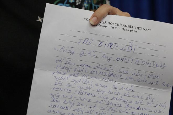 Tài xế xích lô gửi thư xin lỗi vì lấy 2,9 triệu đồng của du khách Nhật-1