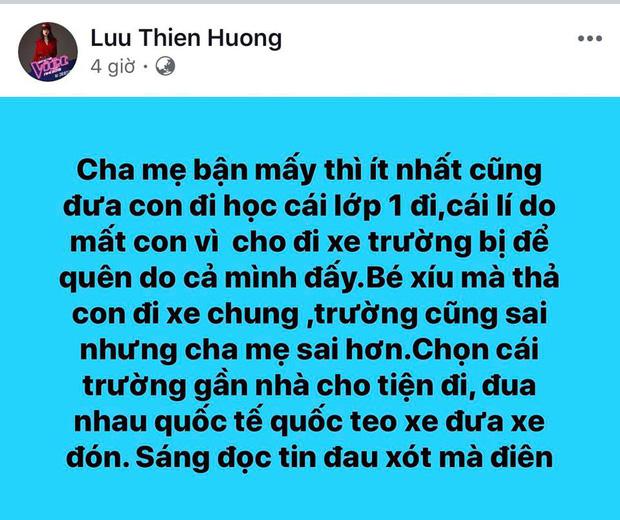 Lưu Thiên Hương gây bức xúc khi phát ngôn: Con mất là do cha mẹ cả đấy!-1