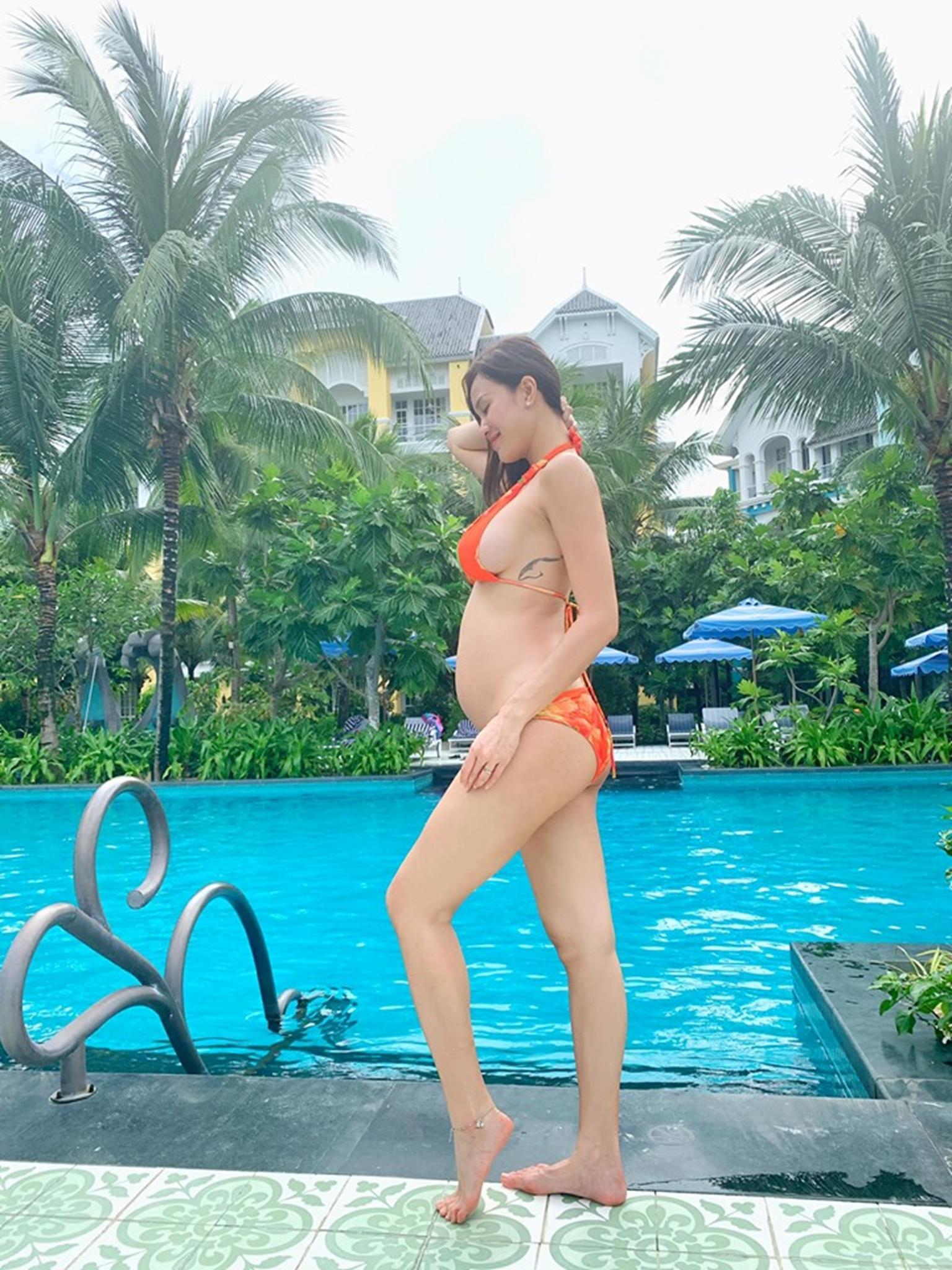MC Phương Mai mang bầu 6 tháng vẫn mặc bikini khoe dáng đẹp hút mắt-4