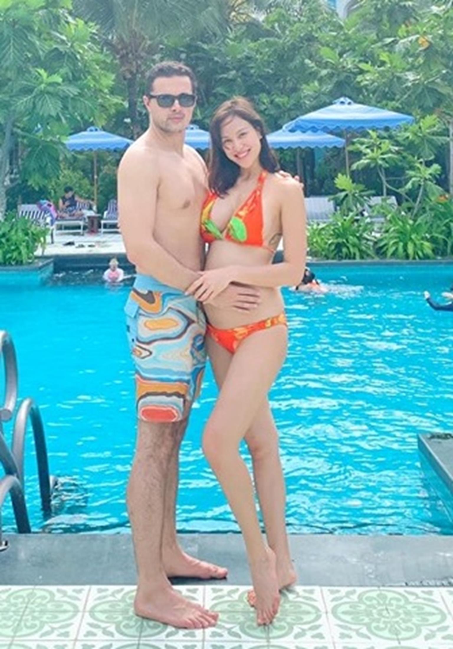 MC Phương Mai mang bầu 6 tháng vẫn mặc bikini khoe dáng đẹp hút mắt-6