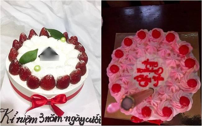 Tin tưởng đặt bạn làm bánh sinh nhật thanh lịch tặng chồng, vợ trẻ nào ngờ phải nhận về thành quả biến dạng, biến màu-2
