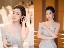 Hoa hậu Đỗ Mỹ Linh mặc đẹp tựa nữ thần,