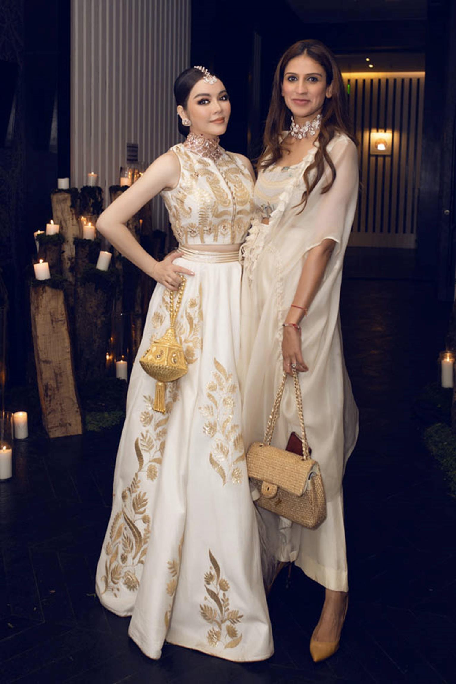 Lý Nhã Kỳ diện váy dát vàng dự tiệc sinh nhật của tỷ phú giàu nhất Ấn Độ-7