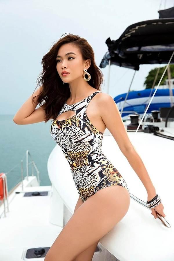 Á hậu Mâu Thuỷ đốt mắt fans với loạt ảnh khoe đường cong hoàn hảo cùng bikini-2