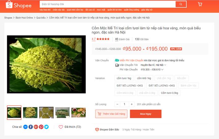 Mùa thu thì chưa đến nhưng cốm đã xuất hiện ầm ầm trên thị trường online với giá gần 300 nghìn/kg-3