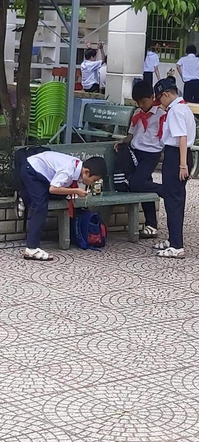 Khoảnh khắc đáng yêu nhất ngày: 3 cậu học sinh chia nhau ly mỳ ở ghế đá, tình anh em chí cốt đẹp đến thế là cùng-3