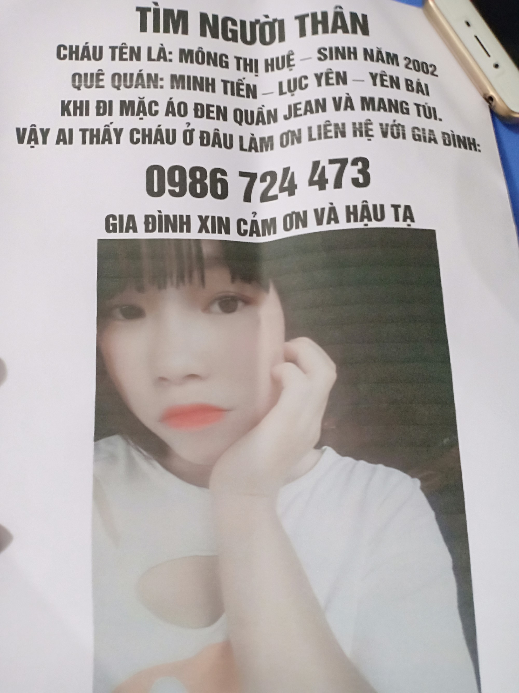 """Thiếu nữ xinh đẹp ở Yên Bái mất tích: Mẹ nhận tin nhắn lạ, nghi ngờ con gái trong động"""" mại dâm-1"""