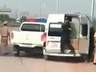Cảnh sát nổ súng truy đuổi xe khách trên cao tốc Hà Nội - Bắc Giang