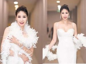 Hoa hậu Hà Kiều Anh mặc váy đẹp như thiên nga, cả showbiz ngước nhìn