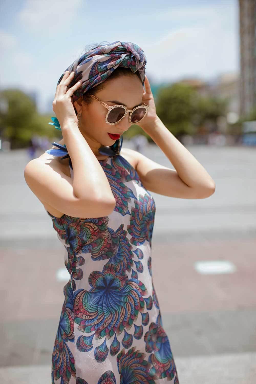 Hoa hậu Ngọc Diễm hoá quý cô sành điệu-3