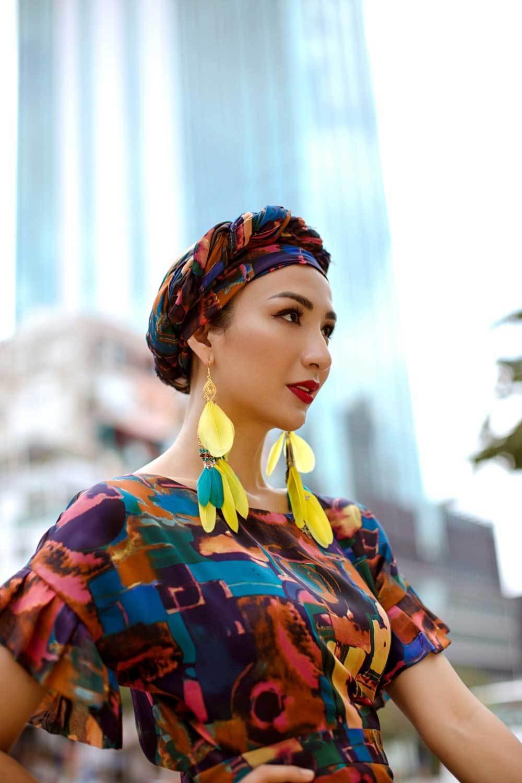 Hoa hậu Ngọc Diễm hoá quý cô sành điệu-7