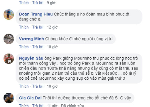 Ân cần thăm hỏi Văn Hậu, thầy Park được sánh với Mourinho-2