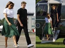 Cậu út nhà Tổng thống Trump xuất hiện bên cha mẹ, trở lại Nhà Trắng với ngoại hình thay đổi đáng kinh ngạc