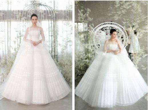 Nhã Phương đẹp tuyệt trần trong sắc trắng tinh khôi, nhưng sao chiếc đầm lại hao hao váy cưới của Đàm Thu Trang thế này?-2