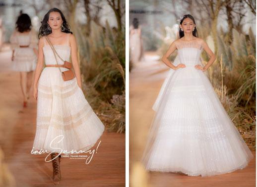 Nhã Phương đẹp tuyệt trần trong sắc trắng tinh khôi, nhưng sao chiếc đầm lại hao hao váy cưới của Đàm Thu Trang thế này?-3